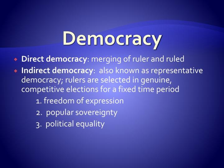 democracy n.