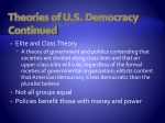 theories of u s democracy continued