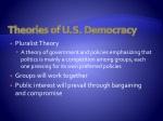 theories of u s democracy