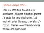 simple example cont