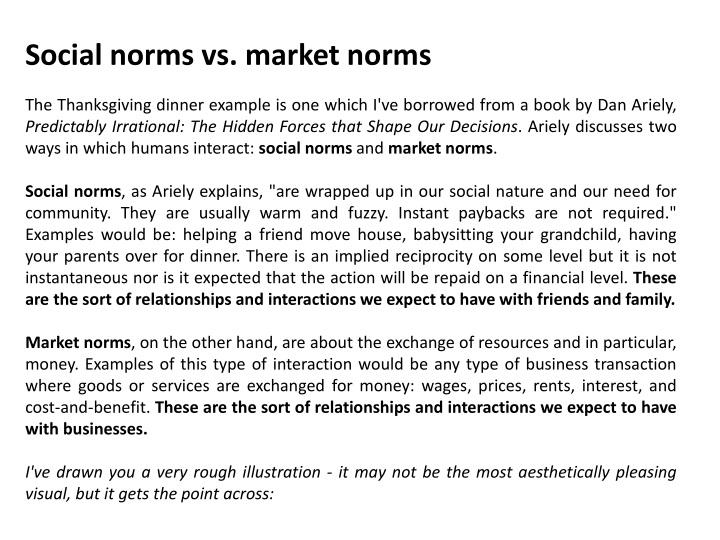Social norms vs market norms