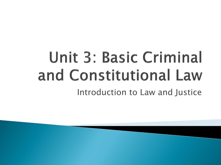 unit 3 basic criminal and constitutional law