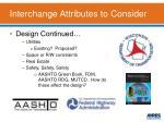 interchange attributes to consider1