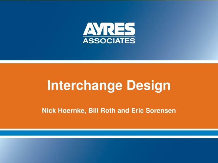 interchange design n.