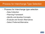 process for interchange type selection
