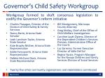 governor s child safety workgroup