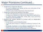 major provisions continued1