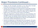 major provisions continued2