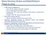 more decisive action and bold reform taken in 2014