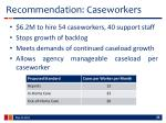 recommendation caseworkers