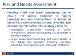 risk and needs assessment