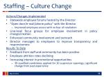 staffing culture change