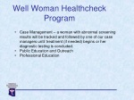 well woman healthcheck program