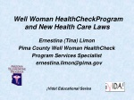 well woman healthcheckprogram and new health care laws