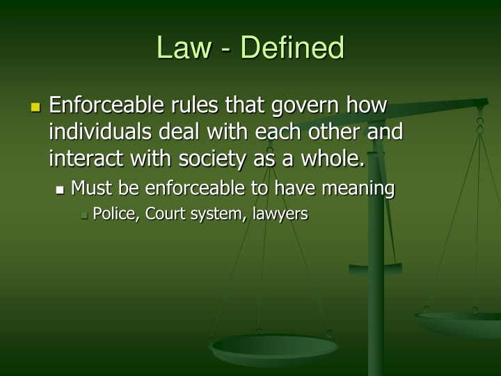 Law defined