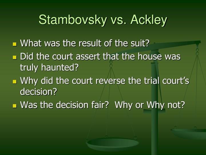Stambovsky vs. Ackley