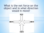 what is the net force on the object and in what direction would it move