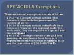 apelscidla exemptions