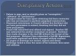 disciplinary actions cont