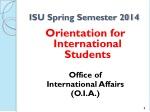 isu spring semester 2014