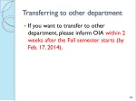 transferring to other department