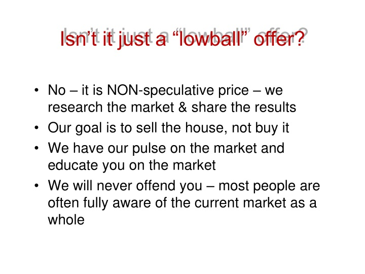 """Isn't it just a """"lowball"""" offer?"""