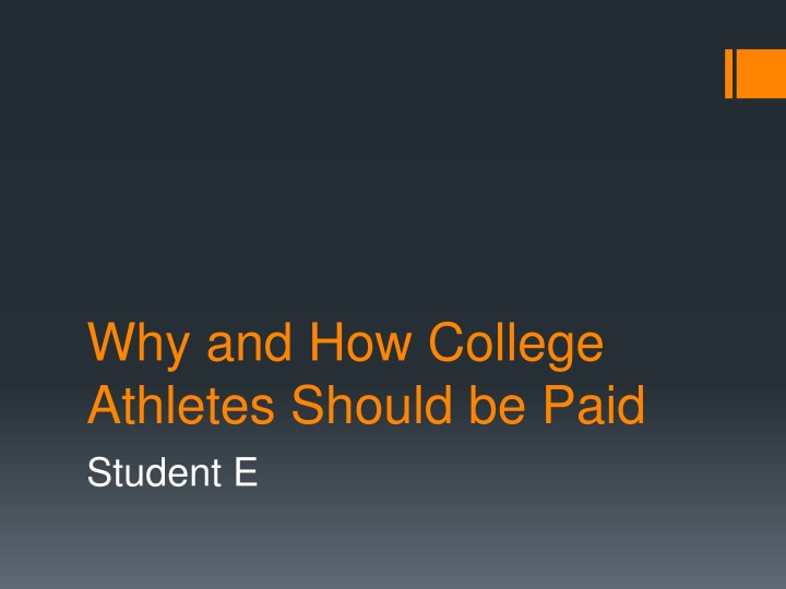 why and how college athletes should be paid n.