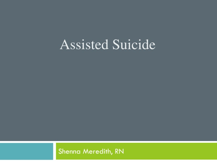 assisted suicide n.