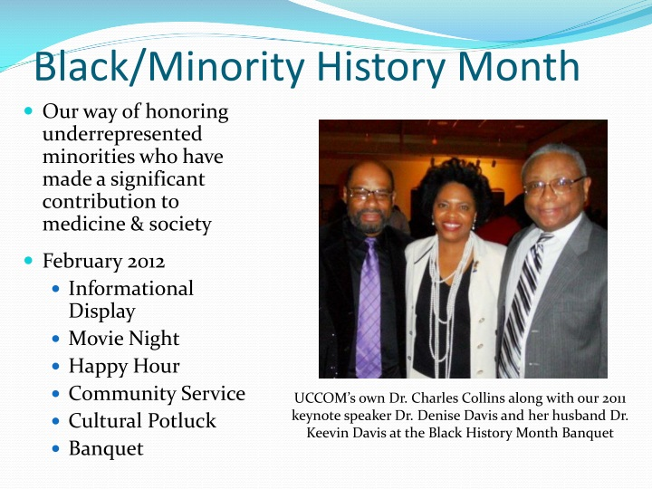 Black/Minority History Month