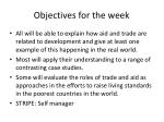 objectives for the week1