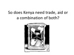 so does kenya need trade aid or a combination of both