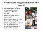 what impact has globalisation had in kenya