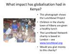 what impact has globalisation had in kenya2