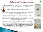 asbestos prosecutions