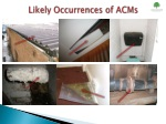 likely occurrences of acms