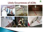 likely occurrences of acms1