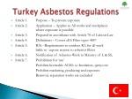 turkey asbestos regulations