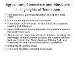 agriculture commerce and music are all highlights of tennessee