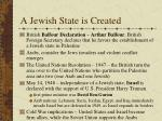 a jewish state is created