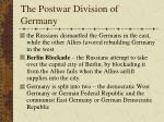 the postwar division of germany