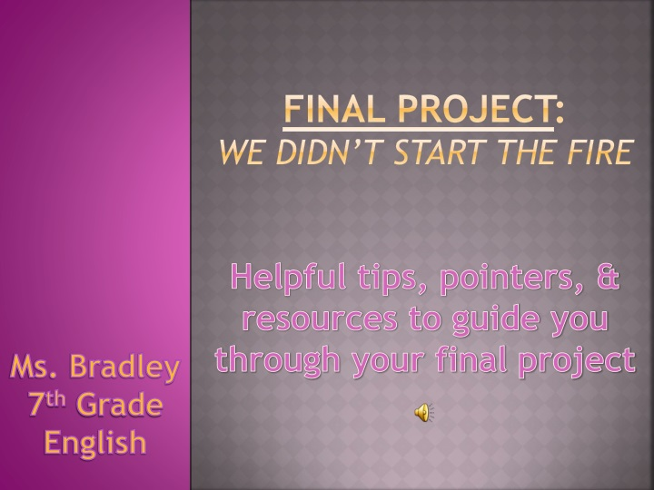PPT - Ms  Bradley 7 th Grade English PowerPoint Presentation - ID