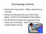 purchasing a home13
