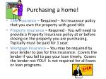purchasing a home14