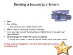 renting a house apartment