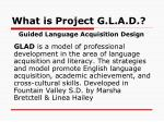 what is project g l a d
