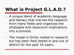 what is project g l a d1