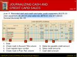 journalizing cash and credit card sales