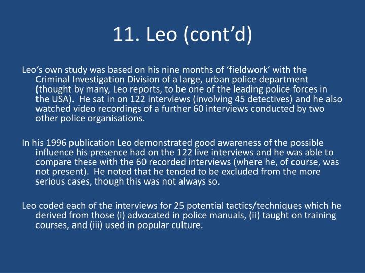 11. Leo (cont'd)