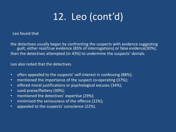 12.  Leo (cont'd)