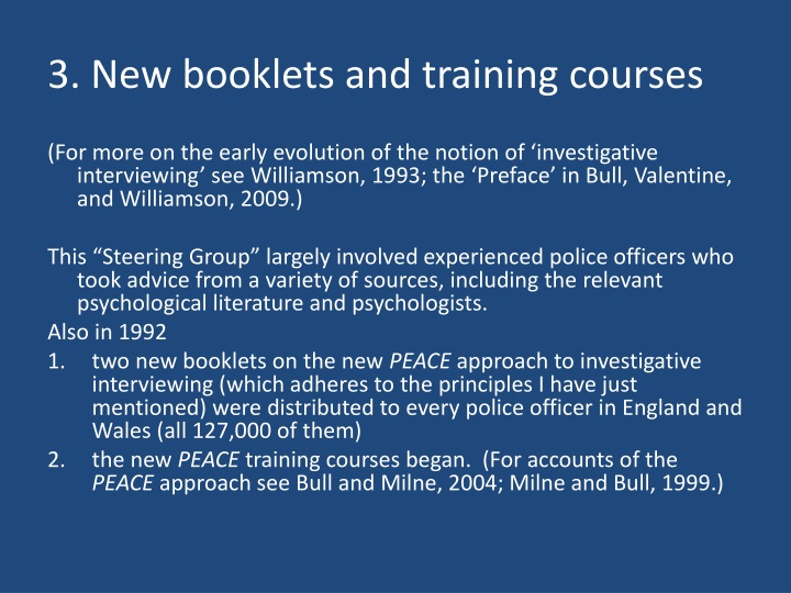 3 new booklets and training courses